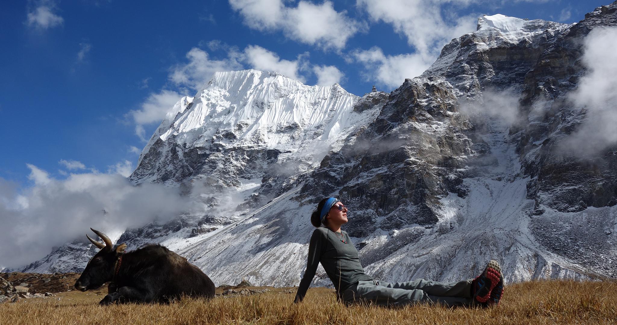 Trekking through Kanchenjunga