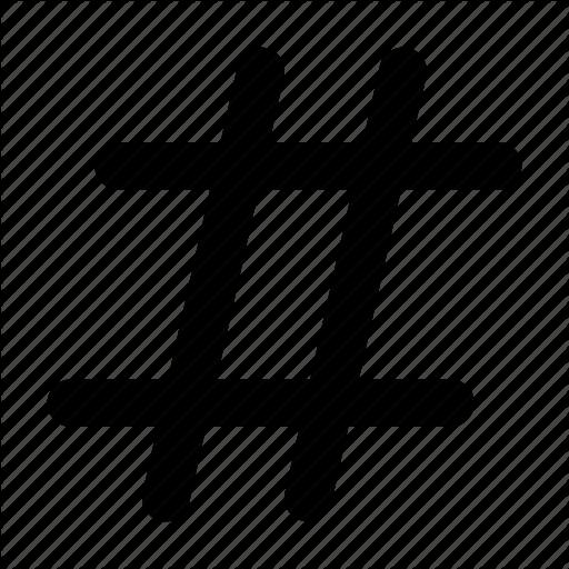 black hashtag